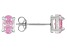 .79ctw Pink Cubic Zirconia Rhodium Over Sterling Silver Oval Stud Earrings