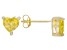.92ctw Yellow Cubic Zirconia 18k Yellow Gold Over Sterling Silver Stud Earrings
