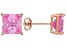1.24ctw Pink Cubic Zirconia 18k Rose Gold Over Sterling Silver Stud Earrings