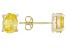 1.08ctw Yellow Cubic Zirconia 18k Yellow Gold Over Sterling Silver Stud Earrings