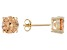 1.27ctw Champagne Cubic Zirconia 18k Yellow Gold Over Sterling Silver Earrings
