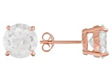 1.74ctw Cubic Zirconia 18k Rose Gold Over Sterling Silver Round Stud Earrings