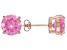 1.74ctw Pink Cubic Zirconia 18k Rose Gold Over Sterling Silver Stud Earrings