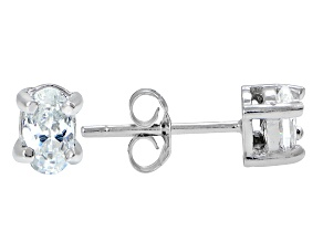 .70ctw Cubic Zirconia Sterling Silver Oval Stud Earrings