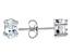 .70ctw Cubic Zirconia Sterling Silver Oval Stud Earrings