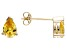 .93ctw Yellow Cubic Zirconia 18k Yellow Gold Over Sterling Silver Stud Earrings