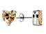 1.22ctw Champagne Cubic Zirconia Sterling Silver Heart Stud Earrings