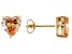 1.22ctw Champagne Cubic Zirconia 18k Yellow Gold Over Sterling Silver Earrings