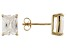 1.28ctw Cubic Zirconia 18k Yellow Gold Over Sterling Silver Stud Earrings