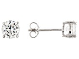 2.00ctw Cubic Zirconia Rhodium Over Sterling Silver Round Stud Earrings