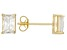.72ctw Cubic Zirconia 18k Yellow Gold Over Sterling Silver Stud Earrings