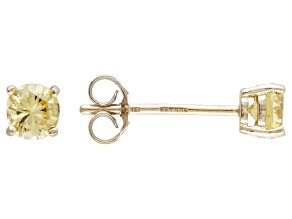 .52ctw Yellow Cubic Zirconia 18k Yellow Gold Over Sterling Silver Stud Earrings