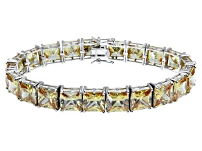 Bella Luce ® 92.00ctw Champagne Diamond Simulant Sterling Silver Bracelet 7.25