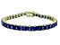Bella Luce ® 22.40ctw Tanzanite Simulant 18k Yellow Gold Over Sterling Silver Bracelet