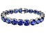 Bella Luce ® 68.00ctw Tanzanite Simulant Sterling Silver Bracelet 7.25