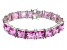 Bella Luce ® 113.00ctw Pink Diamond Simulant Sterling Silver Bracelet 7.25