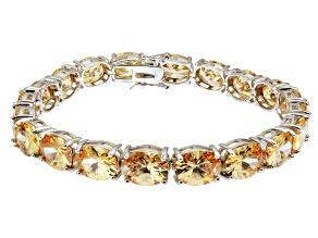 Bella Luce ® 54.00ctw Champagne Diamond Simulant Sterling Silver Bracelet 7.25