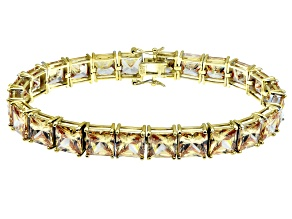 Bella Luce ® 69.00ctw Champagne Diamond Simulant 18k Yellow Gold Over Sterling Silver Bracelet