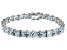Bella Luce ® 49.90ctw White Diamond Simulant Sterling Silver Bracelet 7.25