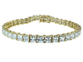 Bella Luce ® 22.40ctw White Diamond Simulant 18k Yellow Gold Over Sterling Silver Bracelet