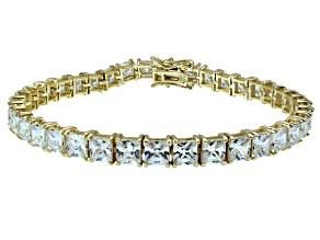 Bella Luce ® 22.40ctw White Diamond Simulant 18k Yellow Gold Over Sterling Silver Bracelet