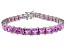 Bella Luce ® 27.35ctw Pink Diamond Simulant Sterling Silver Bracelet 7.25