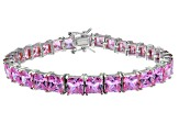 Bella Luce ® 27.35ctw Pink Diamond Simulant Sterling Silver Bracelet 7.25