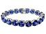 Bella Luce ® 84.47ctw Tanzanite Simulant Sterling Silver Bracelet 7.25