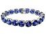 Bella Luce ® 84.47ctw Tanzanite Simulant Sterling Silver Bracelet 7.25