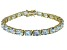 Bella Luce ® 28.8ctw White Diamond Simulant 18k Yellow Gold Over Sterling Silver Bracelet