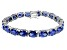 Bella Luce ® 38.90ctw Tanzanite Simulant Sterling Silver Bracelet 7.25