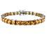 Bella Luce ® 27.35ctw Champagne Diamond Simulant Sterling Silver Bracelet 7.25