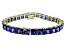 Bella Luce ® 27.35ctw Tanzanite Simulant 18k Yellow Gold Over Sterling Silver Bracelet