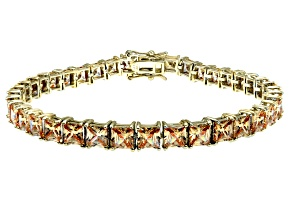 Bella Luce ® 22.40ctw Champagne Diamond Simulant 18k Yellow Gold Over Sterling Silver Bracelet