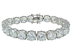 Bella Luce ® 68.00ctw White Diamond Simulant Sterling Silver Bracelet 7.25