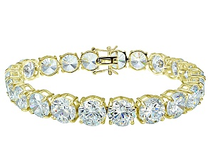 Bella Luce ® 68.00ctw White Diamond Simulant 18k Yellow Gold Over Sterling Silver Bracelet