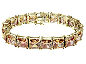 Bella Luce ® 113.00ctw Champagne Diamond Simulant 18k Yellow Gold Over Sterling Silver Bracelet