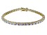 Bella Luce ® White Diamond Simulant 18k Yellow Gold Over Sterling Silver Bracelet