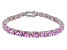 Bella Luce ® 28.08ctw Pink Diamond Simulant Sterling Silver Bracelet 7.25