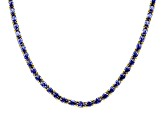 50.37ctw Tanzanite Simulant 18k Yellow Gold Over Sterling Silver Tennis Necklace