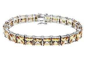 Bella Luce ® 69.00ctwchampagne Diamond Simulant Sterling Silver Bracelet 7.25