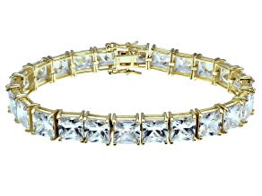 Bella Luce ® 69.00ctw White Diamond Simulant 18k Yellow Gold Over Sterling Silver Bracelet