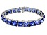 Bella Luce ® 92.00ctw Tanzanite Simulant Sterling Silver Bracelet 7.25