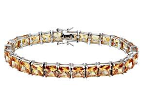 Bella Luce ® 49.90ctw Champagne Diamond Simulant Sterling Silver Bracelet 7.25