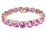 Bella Luce ® 84.47ctw Pink Diamond Simulant 18k Yellow Gold Over Sterling Silver Bracelet