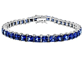 Bella Luce ® 22.40ctw Tanzanite Simulant Sterling Silver Bracelet 7.25
