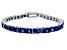 Bella Luce ® 22.40ctw Tanzanite Simulant Sterling Silver Bracelet 7.25