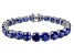 Bella Luce ® 48.60ctw Tanzanite Simulant Sterling Silver Bracelet 7.25
