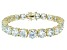 Bella Luce ® 48.60ctw White Diamond Simulant 18k Yellow Gold Over Sterling Silver Bracelet