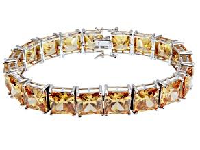 Bella Luce ® 113.00ctw Champagne Diamond Simulant Sterling Silver Bracelet 7.25